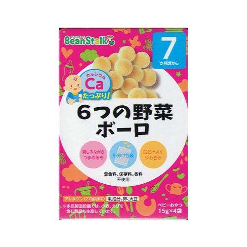 BeanStalk 7個月起嬰兒蔬菜波波餅15gx4包