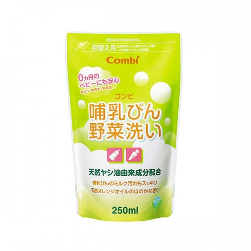 Combi 奶瓶及蔬菜清洗液(天然植物性)250ml補充庄