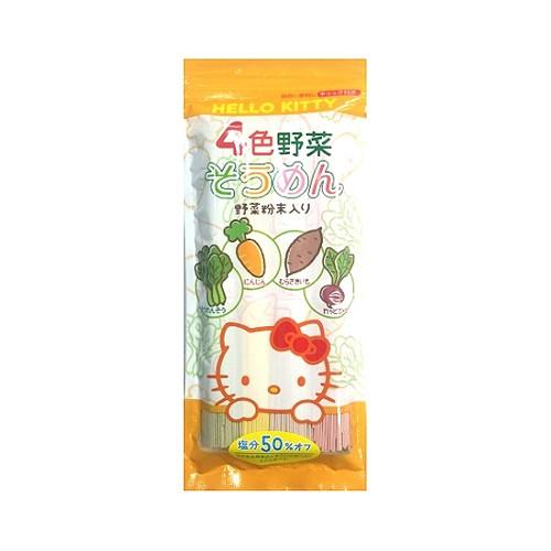 Kanesu Hello Kitty 4色蔬菜麵(減鹽50%)240g