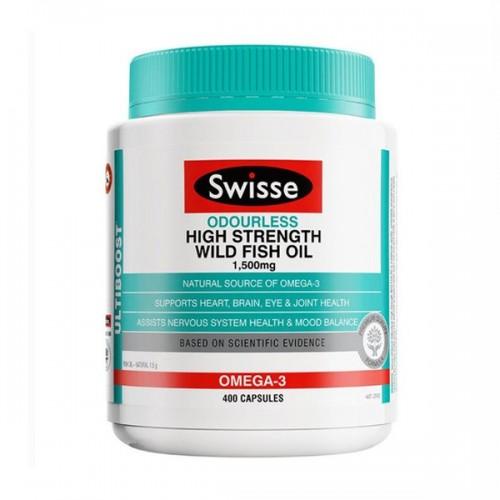 Swisse - ULTIBOOST 無腥味高濃度野生魚油 1500mg 400粒 (EXP:05 2023) [新包裝]