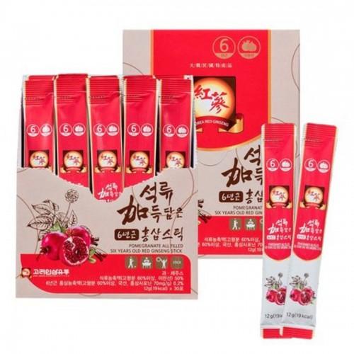 韓國製紅石榴6年紅參根濃縮飲液 12g x30條