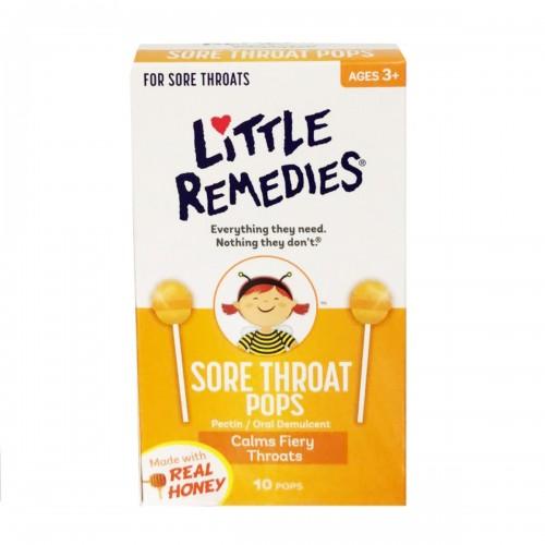 Little Remedies - 天然蜂蜜潤喉止咳棒棒糖 10支/盒