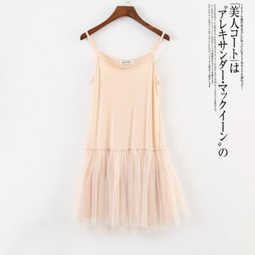 韓版輕紗吊帶連身裙