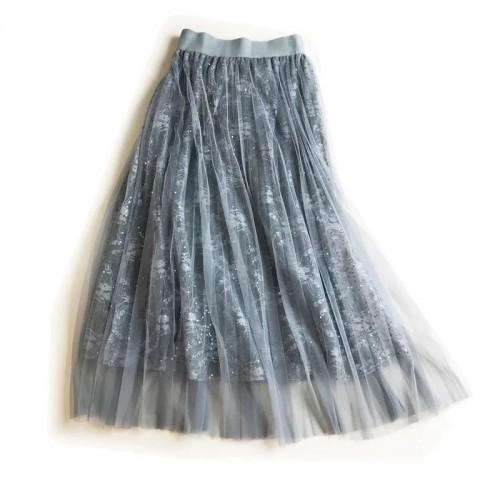 閃片輕紗半截裙