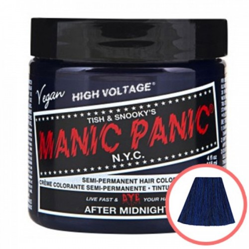 MANIC PANIC HIGH VOLTAGE CLASSIC CREAM FORMULAR HAIR COLOR (01 AFTER MIDNIGHT)