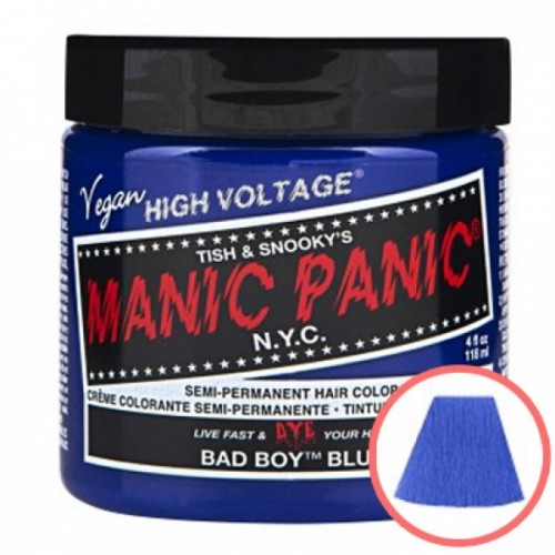 MANIC PANIC HIGH VOLTAGE CLASSIC CREAM FORMULAR HAIR COLOR (03 BAD BOY BLUE)